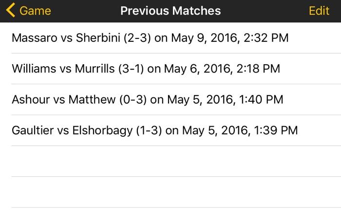 Squash Score Referee App